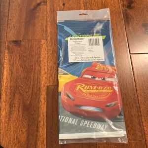 Cars 3 Plastic Table Cover 54x96 New